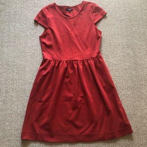 Burnt orange short-sleeve dress by Madewell